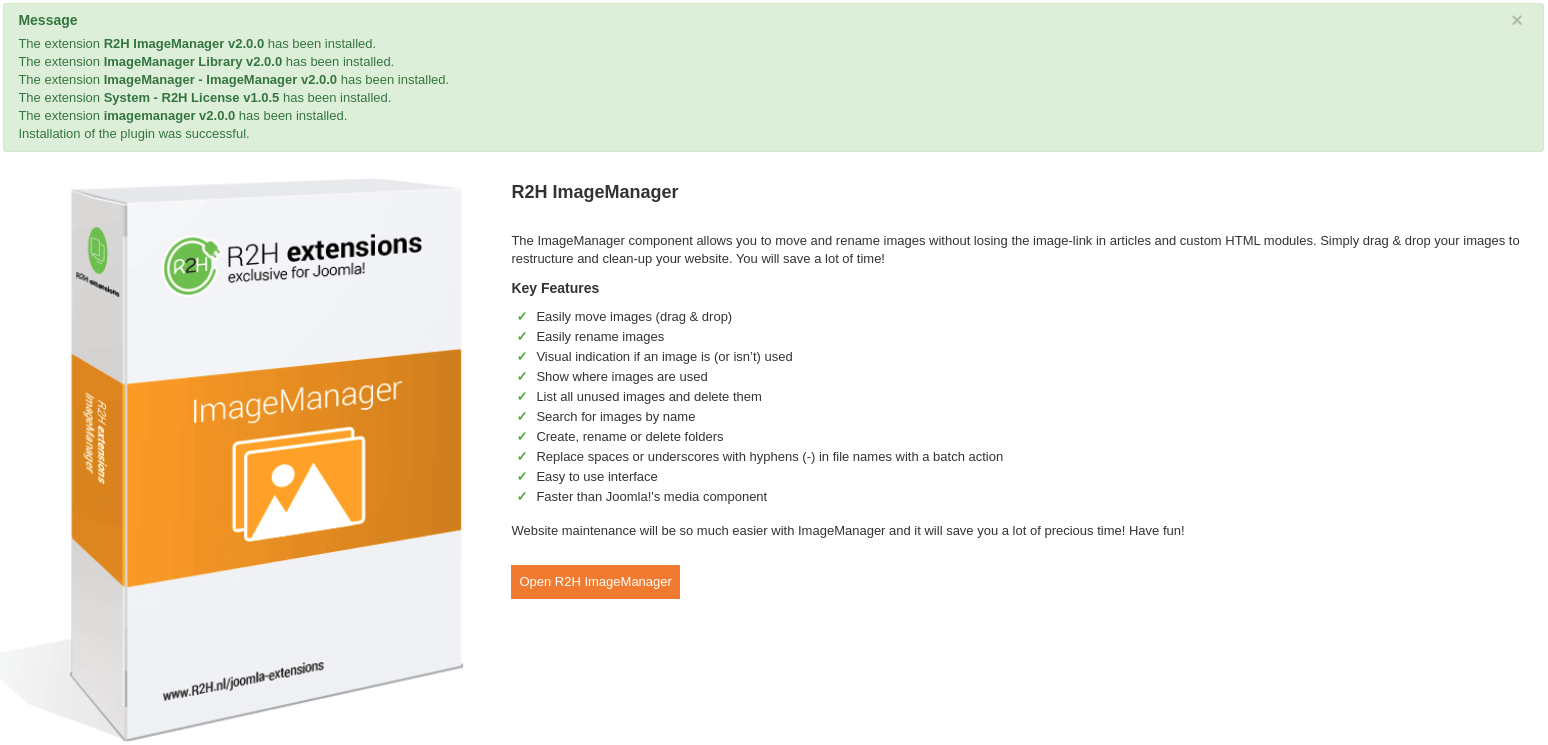 ImageManager is now installed!